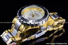 Invicta 51mm Pro Diver King Crown Bezel Auto Gold Silver 2 Tone Pearl Dial Watch