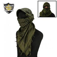 OD Green Tactical Shemagh Arab Scarf Keffiyeh Army Military Headwear Streetwise
