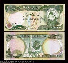 IRAQ 10000 10,000 IRAQI DINAR P95 a 2003 PHYSICIST MATHEMATICIAN UNC TONE NOTE