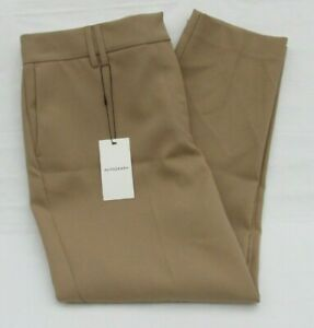 LADIES MARKS & SPENCER AUTOGRAPH CAMEL SLIM HIGH RISE TROUSERS WITH WOOL SIZE 16