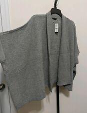 Natori Women's Plus Kimono Open Front Gray Oversize Poncho Cardigan Size M $160
