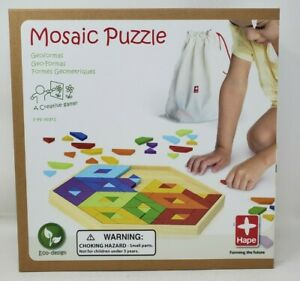 HAPE MOSAIC PUZZLE Bamboo Wooden Creative Children's Game Geometry Ages 3-99