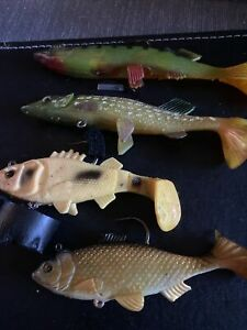jelly pike lures 4 In Lot Heavy Great Pike Lures For Deep Water