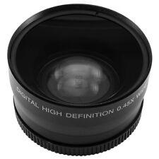 58mm 0.45x Wide Angle + Macro Lens F Canon Nikon Pentax SLR DSLR Camera 0.45x58