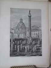 Vintage Print,TROJANS COLUMN,Rome,Francis Wey,1872