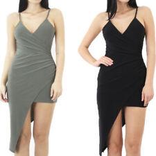 V-Neck Asymmetric Regular Size Dresses for Women