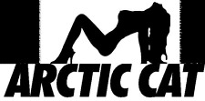 Arctic Cat Girl Vinyl Decal -  Buy One, Get Another Free -