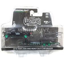 32080 A GAS MONKEY 2016 DODGE RAM 2500 HEAVY DUTY CAR HAULER 1/64 GREEN MACHINE