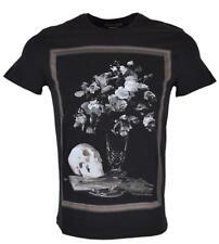 New Alexander Mcqueen Men's 464046 Floral Skull Print Classic Fit T Shirt XS