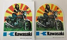 KAWASAKI Z1 900 Z1A 900 Z1B 900 Z900 KZ900 1974 99981-211-05 Etiqueta engomada de promoción