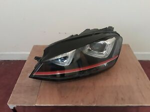 LH XENON HEADLAMP LEFT HEADLIGHT NEARSIDE N/S VW GOLF MK7 GTI 2013-2017