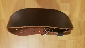Altus Black Leather Weight Lifting Belt Size Small (24-28)