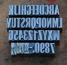 A-Z +0-9 Bleischrift 23mm Bleialphabet Buchstaben Letter Stempel Stoffdruck Blei