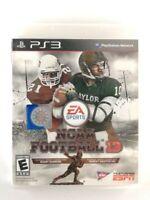 NCAA Football 13 - (Sony PlayStation 3, 2012) Good Condition, CIB, *TESTED*