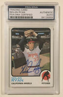 1973 Topps NOLAN RYAN Signed Autographed Baseball Card PSA/DNA #220