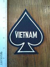 VIETNAM MILITARY BLACK SPADE Patch
