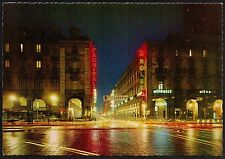 AD2924 Torino - Città - Via Roma di notte - Insegna Rolex - Olivetti