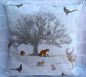 Fryetts Wildlife Animals Fox Deer Owl cushion cover 14 16 17 18 inch