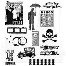 Tim Holtz Stampers Anonymous Mini Muse Unmounted Rubber Stamp Set CMS063