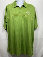Vintage 90s Nike Air Flight Velour Shirt Men's Size XXL Green Collared Polo