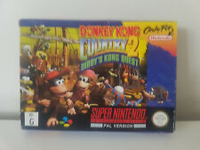 Donkey Kong Country 2- Super Nintendo PAL - Boxed & Complete- SNES