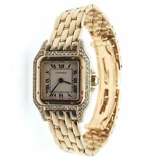 CARTIER PANTHER Panthere Diamond Solid 18k Yellow Gold Ladies Watch