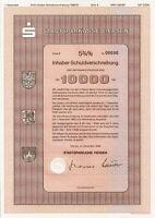 Stadtsparkasse Viersen 1989 Bank DM Anleihe Mönchengladbach hist. Wertpapier NRW