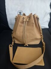 Vintage Chanel Beige Caviar Bucket Bag & Purse