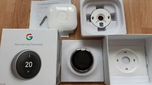 Nest Thermostat 3rd Generation Stainless FULL KIT - Excellent condition