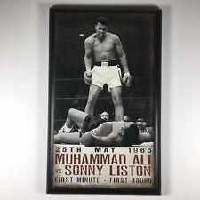 "Muhammad Ali Wooden 8"" x 13"", Fight Vs. Sonny Liston, ""The Phantom Punch"""