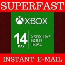 Xbox Live 14 días de prueba de oro de 2 semanas código de 14 días de la semana 2