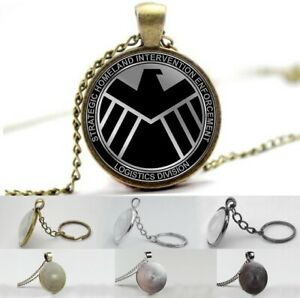 Avengers - Agent of SHIELD - Photo Glass Dome Necklace, Pendant, Keyring