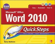Microsoft Office Word 2010 QuickSteps by Matthews, Marty, Good Book