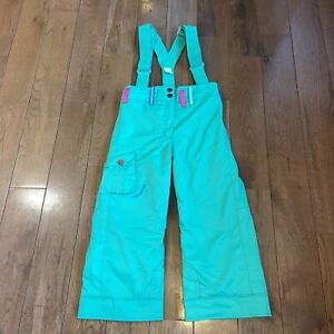 Kids Obermeyer Utopia Pants Snow Ski Suspenders Kelly Green I-Grow System Sz 5