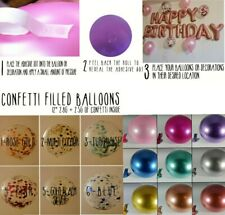 Party Balloons Pearl Pastel Metallic Confetti Filled Latex Air Or Helium