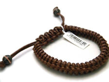 Stephen Webster Brown Woven Leather Slide Bracelet NWT