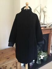 Zara Black Wool Contrast Quilted Puffer Coat Size L UK14 Bnwt