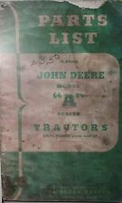 John Deere Model A Tractor Parts Manual 76pg Book 2-Cylinder  (s/n=532000-583999