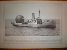 Photo UK navy observation balloon ship 1916
