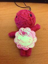 Gothic Voodoo Pink Doll with Flower Keyring / Charm - NEW