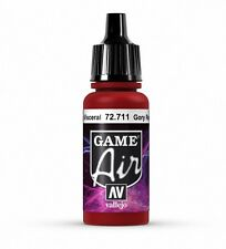 VALLEJO GAME AIR AIRBRUSH PAINT - GORY RED 17ML - 72.711