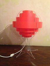 Original Retro Rare Collectable 1970's Red/Orange Strips Space Age Style Lamp