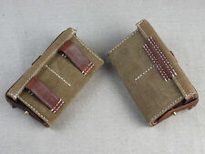 Pair of Perfect Replica WW2 Japanese Navy Canvas Front Ammo Pouch