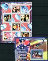 COMORES 2009 - CHANTEURS CELEBRES SINGERS MUSIC HOLYWOOD CELEBRITIES MNH**