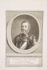 Lodewyk van Boisot Amiral Gueux de la Mer Pays Bas XVI° Meyer gravure XIX°