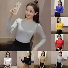 Cute Girls Womens Casual Long Sleeve T-Shirts Tops Blouse Sweatshirt Sweater