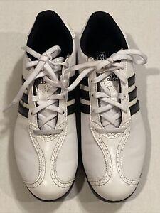 Addias Junior Golf White / Black Shoes Size 6