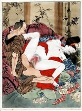 """SHUNGA"" XXX""#6A   REPRINT OF EROTIC  PAINTING MEIJI PERIOD +"