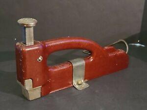 TESTED GOOD Vintage Manual Tack Hardwood Floor Ratcheting Surface Nailer
