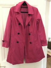 Size 12 Pink Ladies Double Breasted Coat/mac